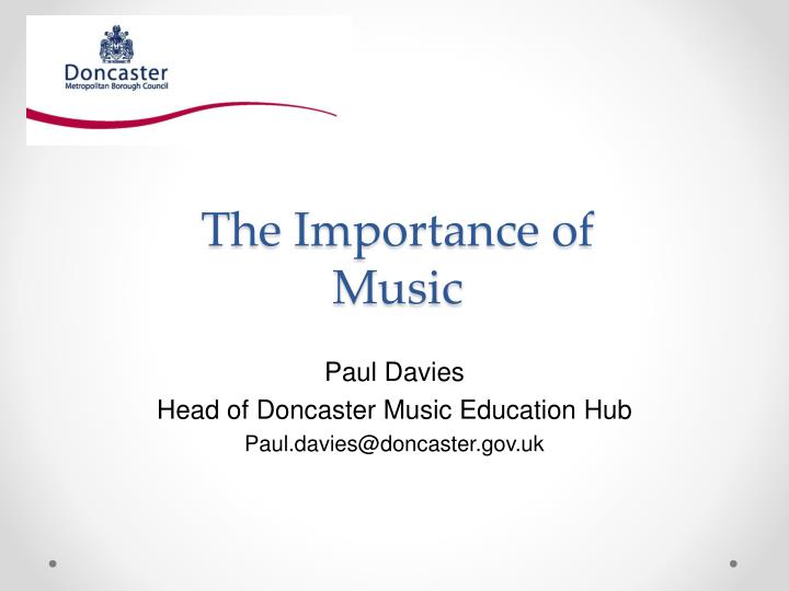 the importance of music n.