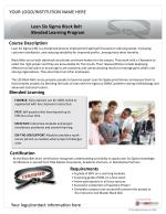 Lean Six Sigma Black Belt Blended Learning Program