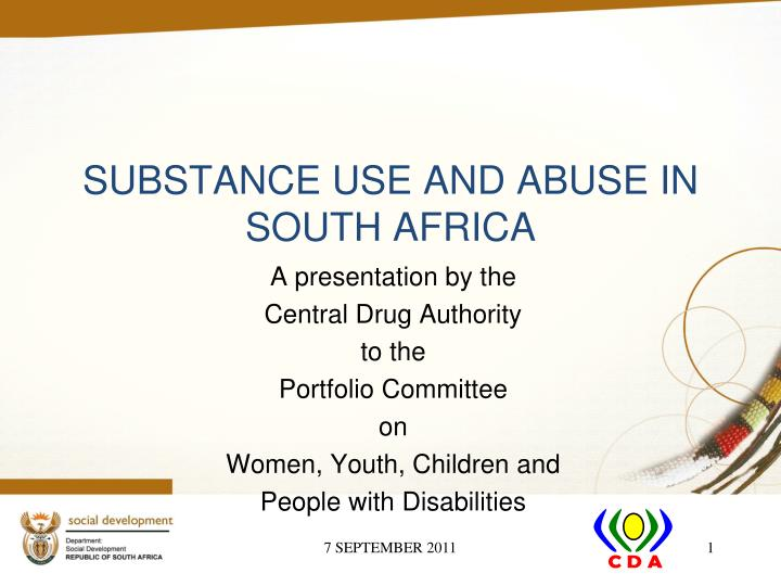 substance use and abuse in south africa n.