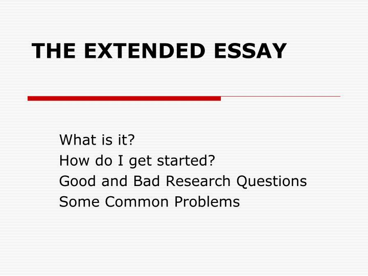 the extended essay n.
