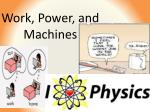 Work, Power, and Machines