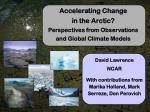 Accelerating Change in the Arctic? Perspectives from Observations and Global Climate Models