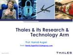 Thales & its Research & Technology Arm
