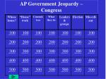 AP Government Jeopardy – Congress