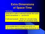 Extra Dimensions of Space-Time
