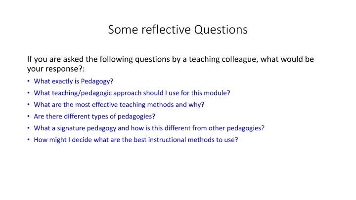 some reflective questions n.