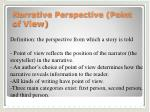 Narrative Perspective (Point of View)