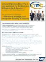 Critical Business Issue – Mobile Device Management