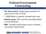 Federal Government Contracting