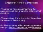 Chapter 9: Perfect Competition