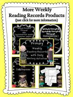 More Weekly Reading Records Products (just click for more information)