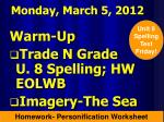Monday, March 5, 2012