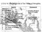 L13 & 14: The War Ends & The Treaty of Versailles