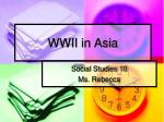WWII in Asia