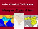 Asian Classical Civilizations: