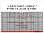 Reducing Failure to Appear: A Procedural Justice Approach