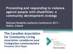 The Canadian Association for Community Living Association canadienne pour