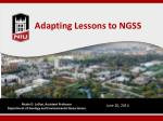 Adapting Lessons to NGSS