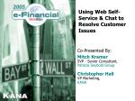 Using Web Self-Service & Chat to Resolve Customer Issues