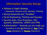 Information Security Recap