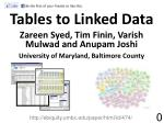 Tables to Linked Data