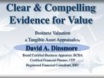 Clear & Compelling Evidence for Value