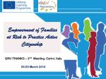 Empowerment of Families at Risk to Practice Active Citizenship