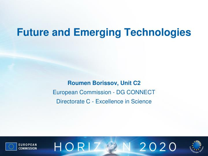 future and emerging technologies n.