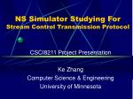 NS Simulator Studying For Stream Control Transmission Protocol