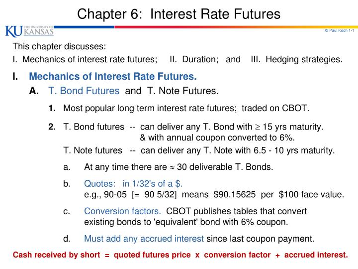 chapter 6 interest rate futures n.