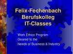 Felix-Fechenbach Berufskolleg IT-Classes