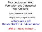 Four Lectures on Web Formalism and Categorical Wall-Crossing