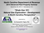 North Carolina Department of Revenue 2014 Advanced Real Property Seminar