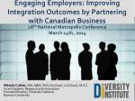 Engaging Employers: Improving Integration Outcomes by Partnering with Canadian Business