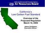 California's Low Carbon Fuel Standard