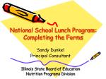 National School Lunch Program:  Completing the Forms