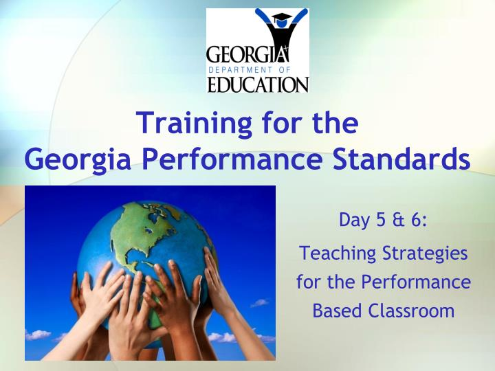 training for the georgia performance standards n.