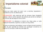 L' Imperialisme colonial