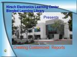 Hirsch Electronics Learning Center Blended Learning Library