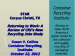 Container Recycling Institute: