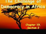 The Challenge of Democracy in Africa