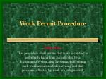 Work Permit Procedure