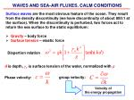 WAVES AND SEA-AIR FLUXES. CALM CONDITIONS