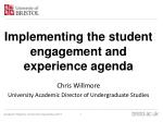 Implementing the student engagement and experience agenda