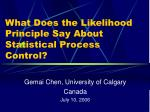 What Does the Likelihood Principle Say About Statistical Process Control?