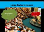 Large lecture classes