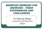 MIDWIVES WORKING FOR MIDWIVES – THEIR EXPERIENCES AND CHALLENGES