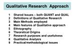 Qualitative Research Approach