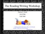 The Reading/Writing Workshop