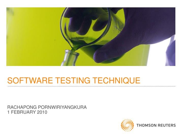 software testing technique n.